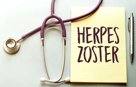 Herpes zoster card of Medical Doctor, medical concept