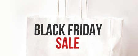 Black Friday paper bag. Sale concept. Business. Black friday sale Stock fotó - 154543732