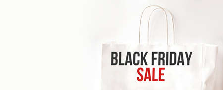 Black Friday paper bag. Sale concept. Business. Black friday sale Stock fotó - 154543746