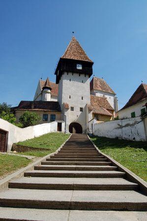 fortified: Bazna fortified church, Transylvania, Romania