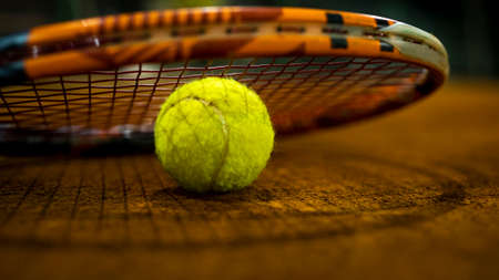 Close up on a tennis ball