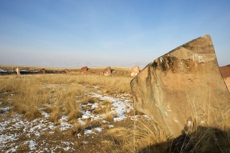 Ancient rock sculptures in Mongolia