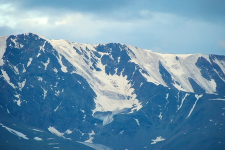 Altai mountains in Kurai area with North Chuisky Ridge on background, Altay Republic