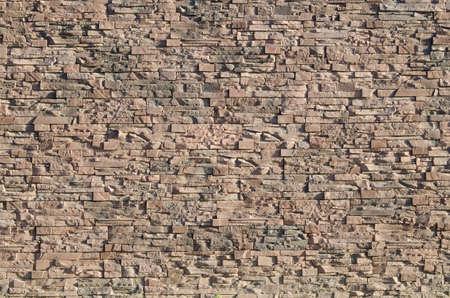 壁が並んでいます人工石