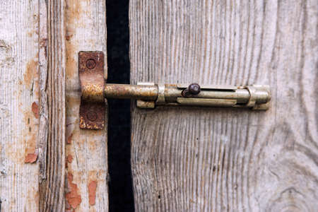 latch: Old latch on old door