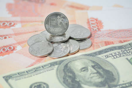monies: the Russian ruble and dollars