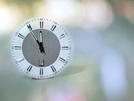 past midnight: clock shows the approach of the new year Stock Photo
