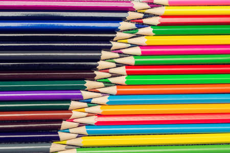 sharpened: sharpened colored pencils top view