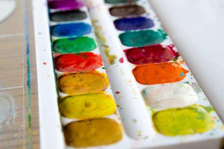 gouache: gouache palette