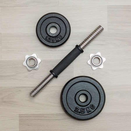 dismantled: dismantled dumbbell vulture and pancakes Stock Photo