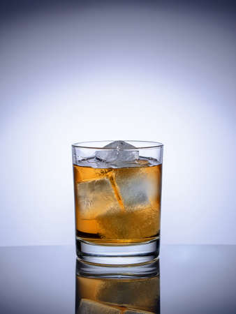 alcoholic drinks: glass with ice alcoholic drinks