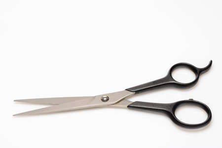 pair of scissors: a pair of scissors for hair cutting Stock Photo