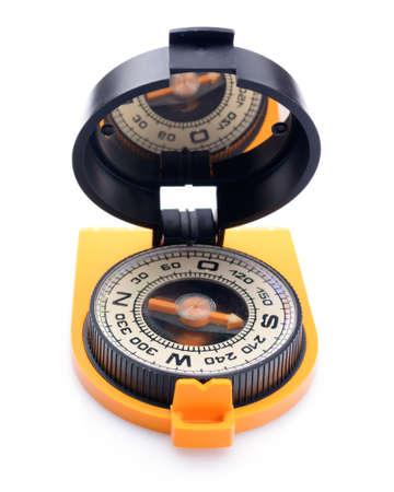 orientation: compass for orientation on terrain Stock Photo