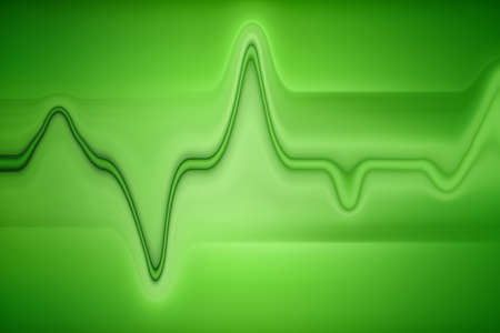 Oscillations on a green background hexagram