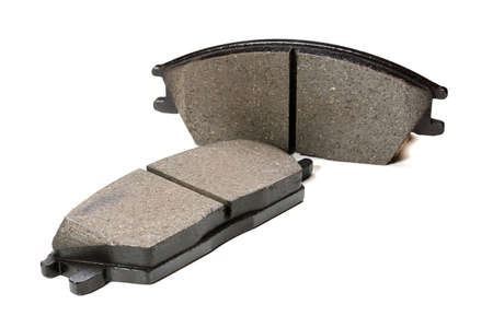 disc brake pads on a white background
