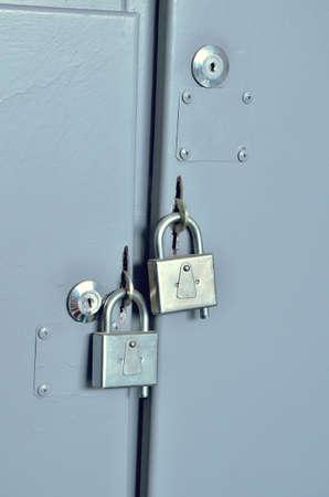 padlocks on the iron shield