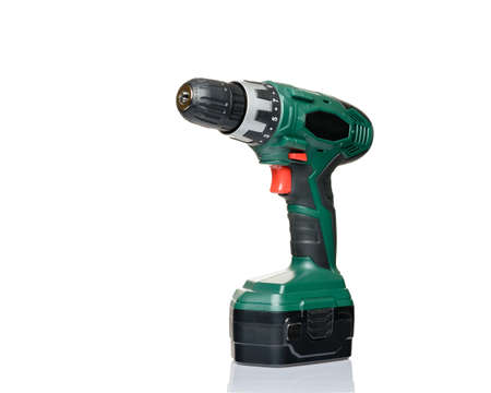 screwdriver drill on a white background