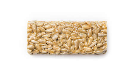 sunflower seeds in caramel in the form of a bar