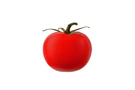 ripe red tomato on white Archivio Fotografico