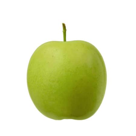 ripe green Apple on white