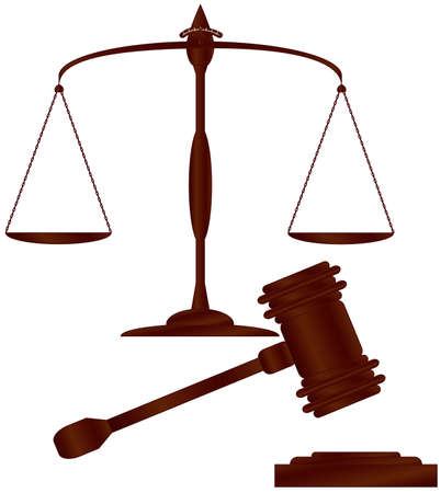 Scales of justice   hammer of justice