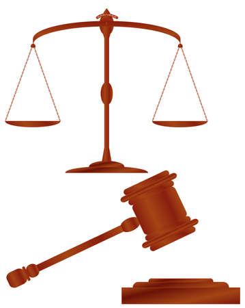 appellate: Scales of justice   hammer of justice