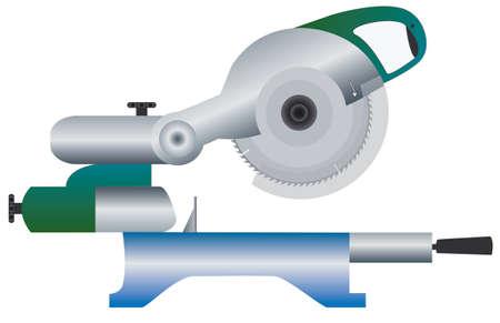 Butt-usovochnaya Saw Vector Illustratie