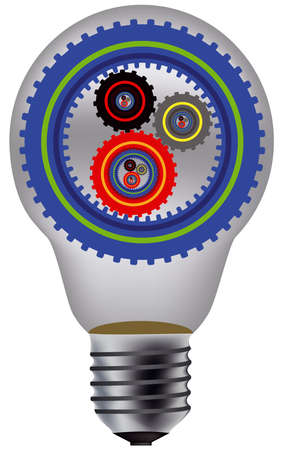 lamp and gear Vector