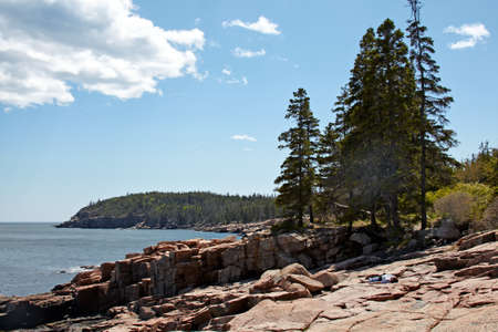 maine: Scenic view of Acadia National Park, Atlantic Coast of Maine.