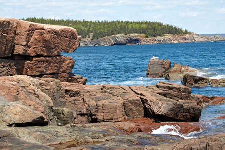 Scenic view of Atlantic Coast of Maine.