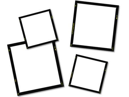 strips: Vintage style film frames.