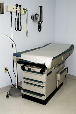 exam room: Examination room at the medical office. Stock Photo
