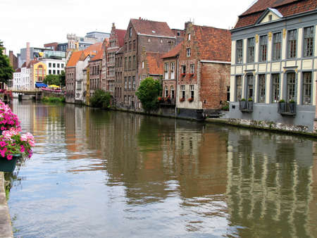 Street view of Ghent, Belgium. photo