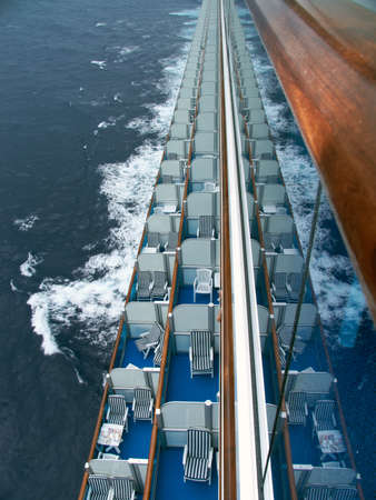 Cruise ship balconies. photo
