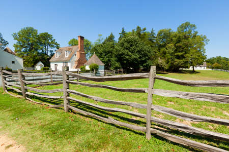 View of the ancient wooden fence on the farm. Stock Photo - 10489912
