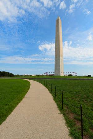 district of columbia: Washington Monument in the National Mall, Washington, DC Stock Photo
