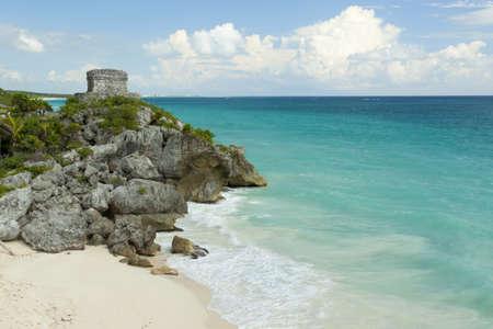 View of the Caribbean beach. photo