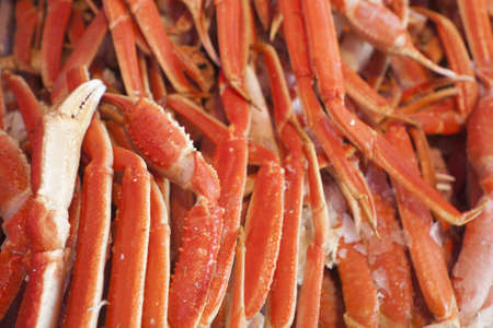 Crabs on displat at the seafood market. Stock Photo - 12964661