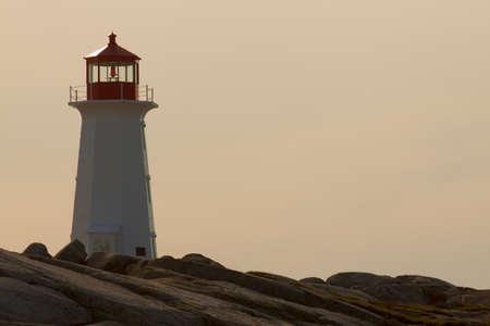 Peggys Cove Lighthouse. Nova Scotia photo
