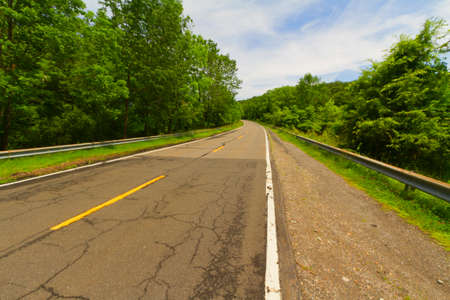 smooth: General view of a paved road Stock Photo