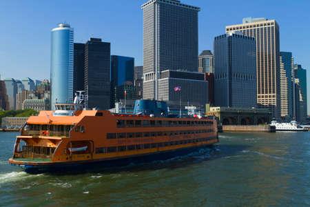 staten: Views of New York City, USA. Staten Island Ferry.
