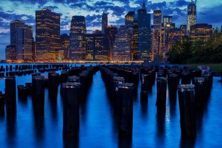 staten: Night views of New York City, USA