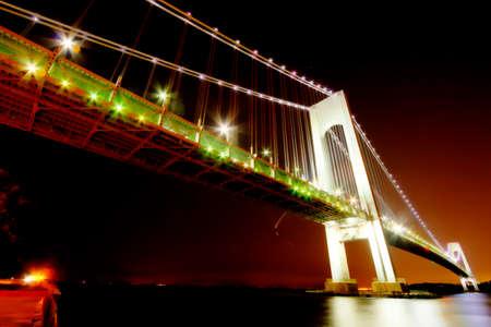 narrows: Night views of New York City, Verazzano Narrows Bridge.