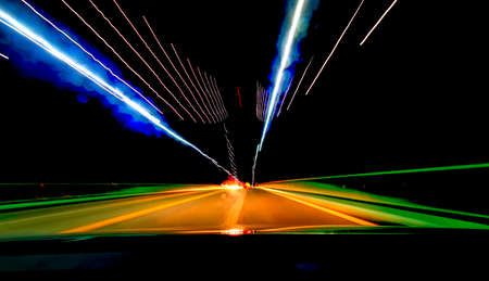 Long exposure driving images