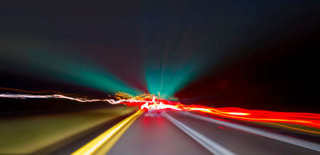 long exposure: Long exposure driving images Stock Photo