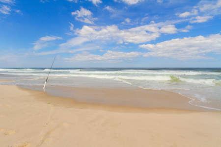 warm water fish: Sandy beach. Stock Photo
