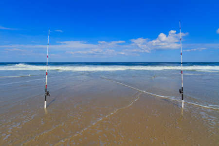 sandy: Sandy beach. Stock Photo