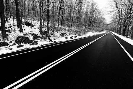 winter road: Winter landscape Stock Photo