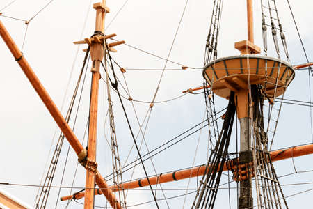 tall ship: Rigging on the ancient tall ship.