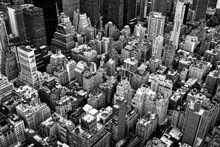 vue ville: Toits de New York et de la rue. Banque d'images